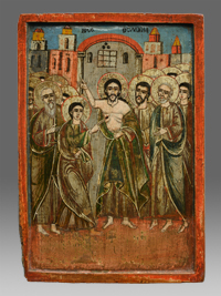 Icon christ and the unblievable thomas