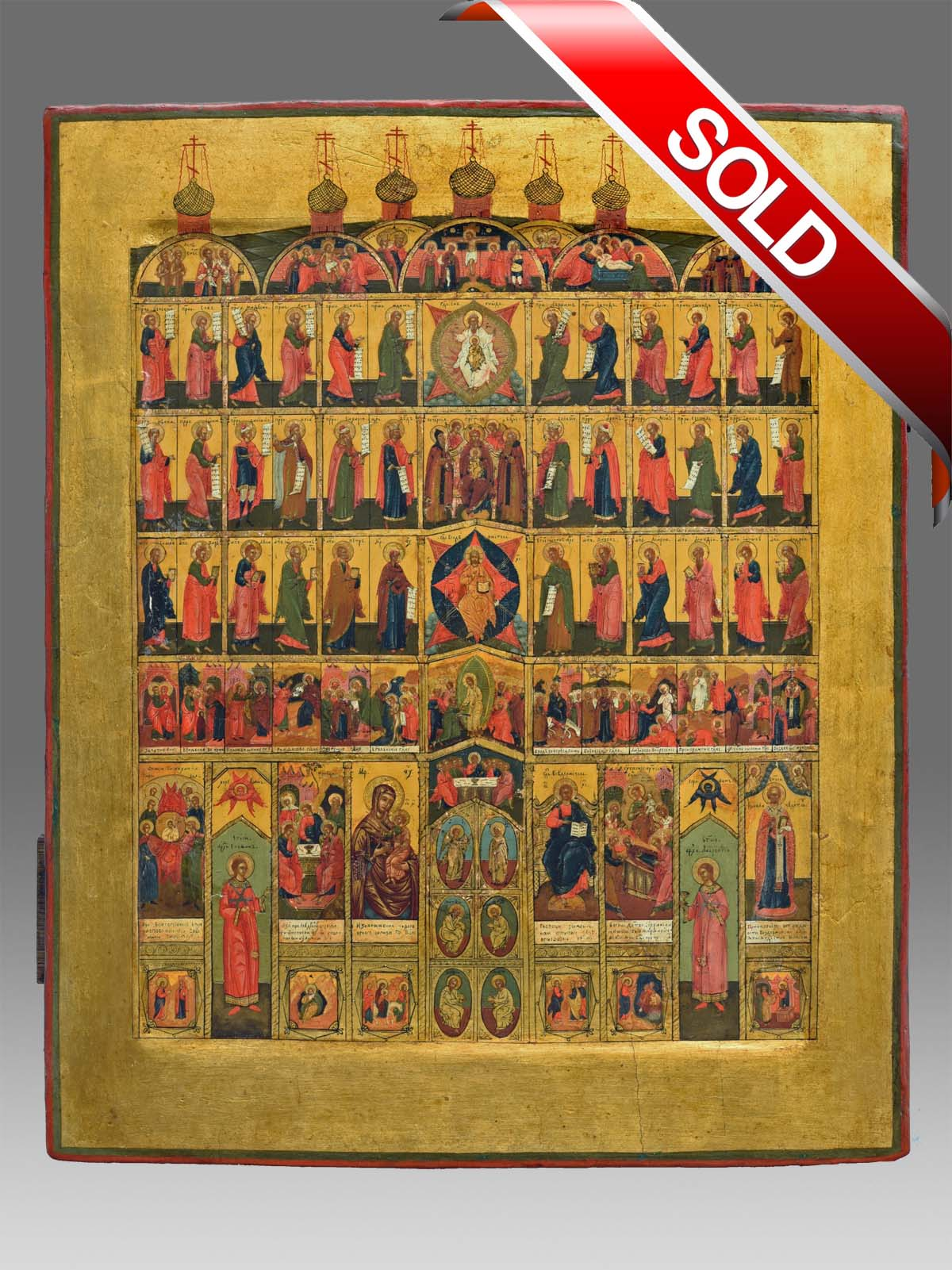Icon miniature Iconostase Palech Russia