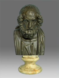 bust of the philosopher homer